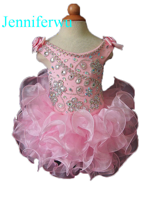 15 color stone beaded  infant and toddler girl pageant dress prom dresses party clothes flower girl dresses 1T-6T G091-5 купить