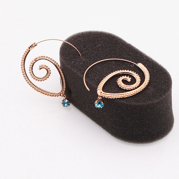 Bohemian Style Swirl Hoop Earring For Women Gold Color Big Circle Earring 1