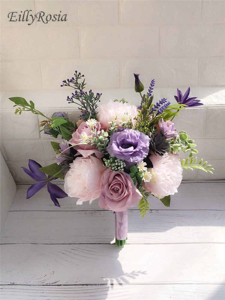 Lilac Lavender Purple Wedding Bouquet For Country Wedding Flowers