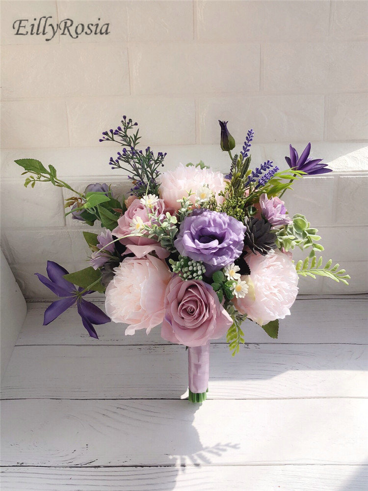 Lilac Lavender Purple Wedding Bouquet For Country Wedding