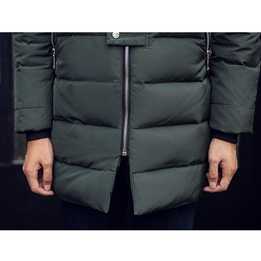 Livraison gratuite hommes doudoune fourrure col manteau élégant hiver veste hommes longue imperméable Parka vers le bas manteau pour homme 200hfx - 6