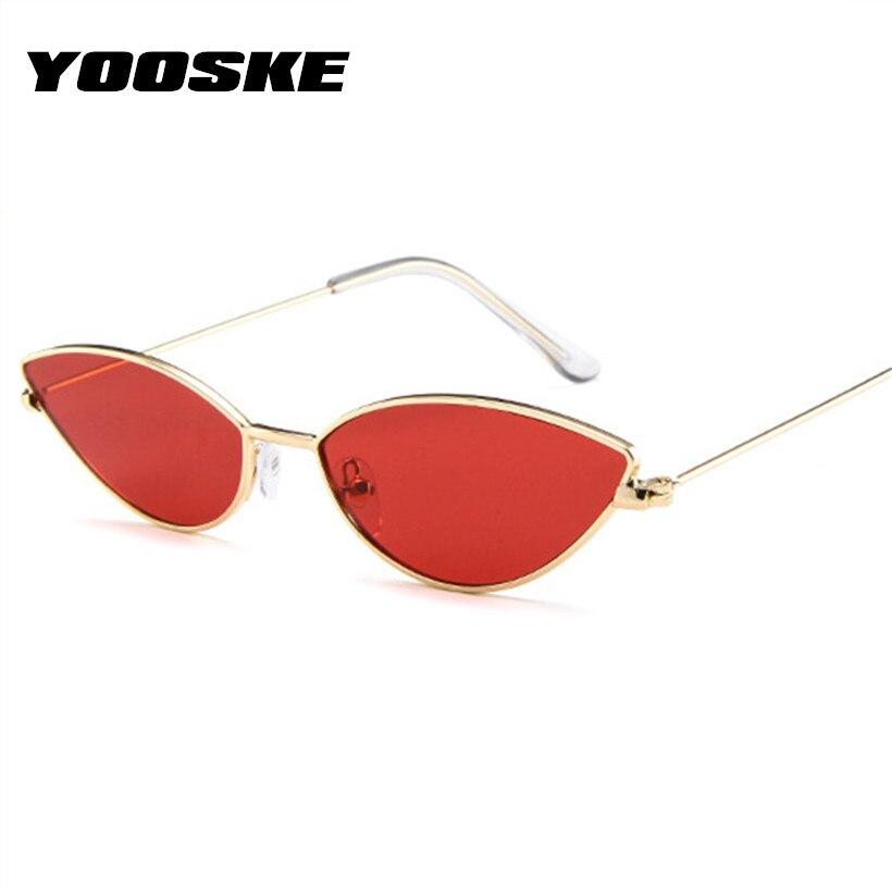 6f4af05138b4 YOOSKE Sexy Cat Eye Sunglasses Women Vintage Small Metal Cateye Sun Glasses  Ladies Ocean Lens Eyewear Womens Glasses
