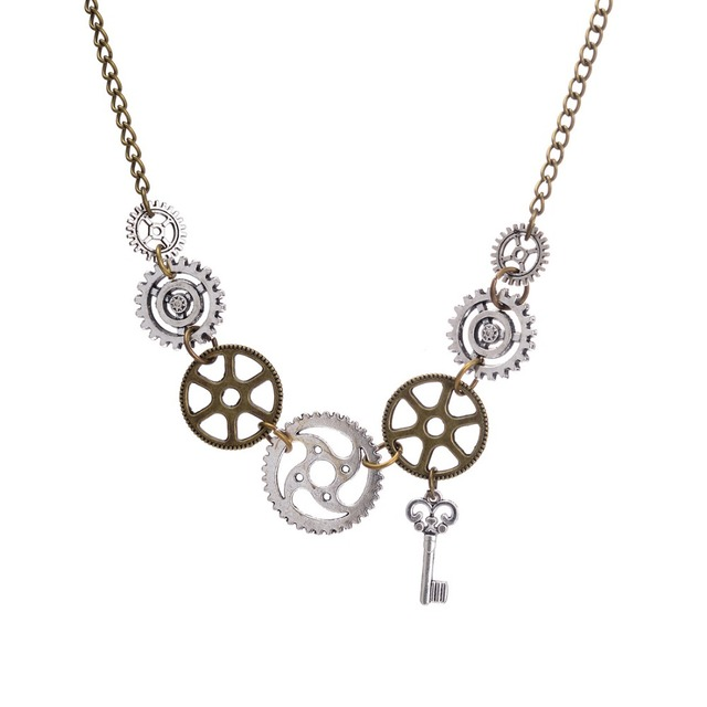 DoreenBeads New Fashion Steampunk Statement Necklace Link Cable Chain Antique Br