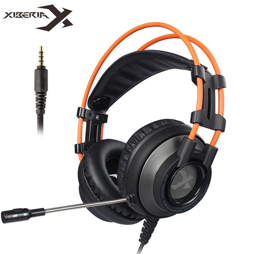 Xiberia K9 PS4 Gaming Headset with Microphone casque 3.5mm PC Stereo Headphones for Xbox One/Laptop/Mobile xiberia s22 casque ps4 gaming headset best 3 5mm pc gamer stereo headphones with microphone for xbox one laptop computer