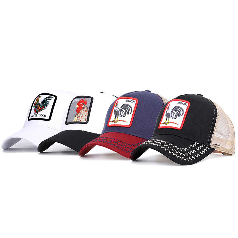 0925f6fd7d7 ... New baseball cap comfortable and breathable adjustable cock animal embroidery  men and women general work fine ...