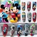 1 Unids Mickey Mouse Diseño de Uñas de Transferencia de Agua Etiqueta Engomada Del Arte Colorido Del Clavo de Transferencia de Agua Pegatinas Wraps Decoraciones Del Arte Del Clavo
