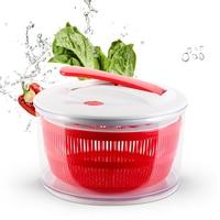 Salad Spinner Fruits Vegetables Dryer Quick Dry Design Cleaner Basket Salad Spinner with Easy Spin Collapsible Locking Handle