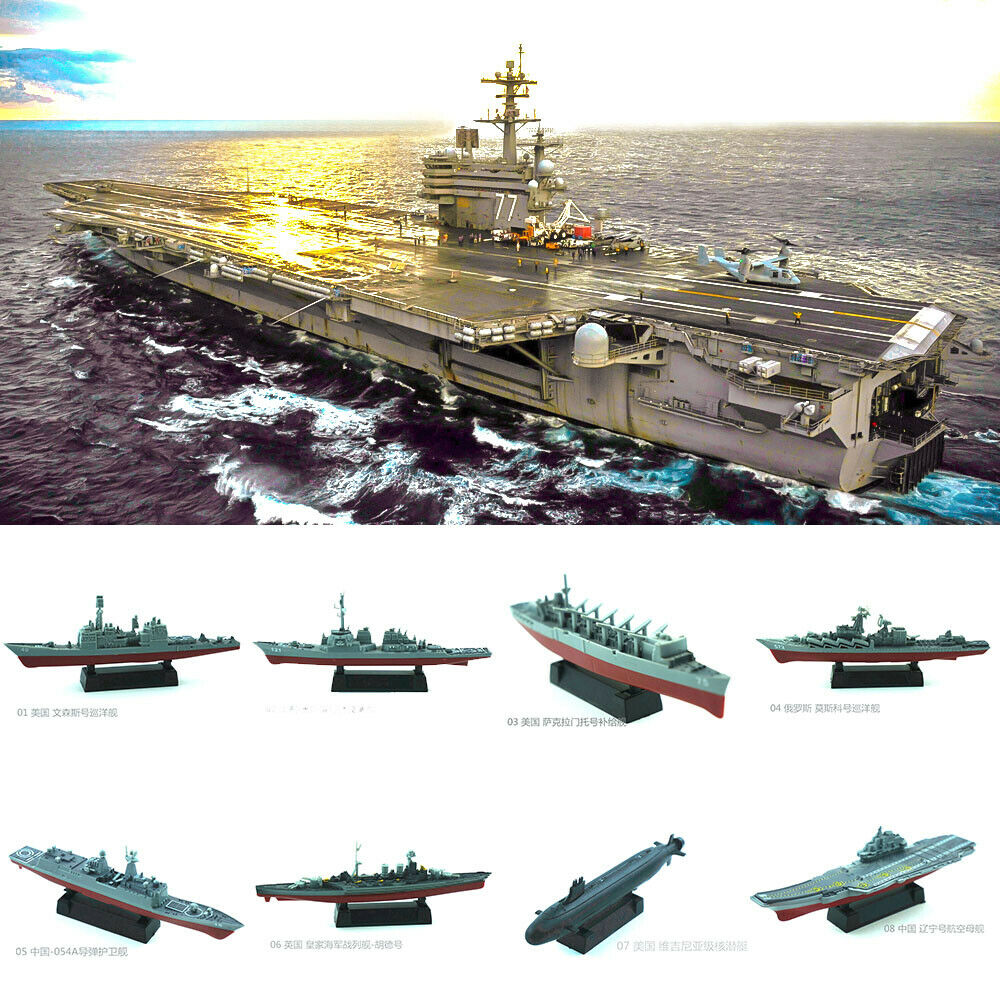 4D Assembly Ship Model Liaoning Battleship Modern Class Battleship Carrier Assembly Model Military Warship Model Toy
