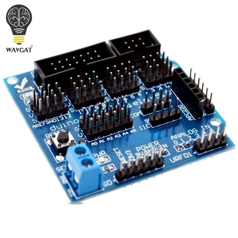 V5.0 sensor escudo placa de expansão para arduino eletrônico blocos construção acessórios robô sensor escudo v5 placa expansão