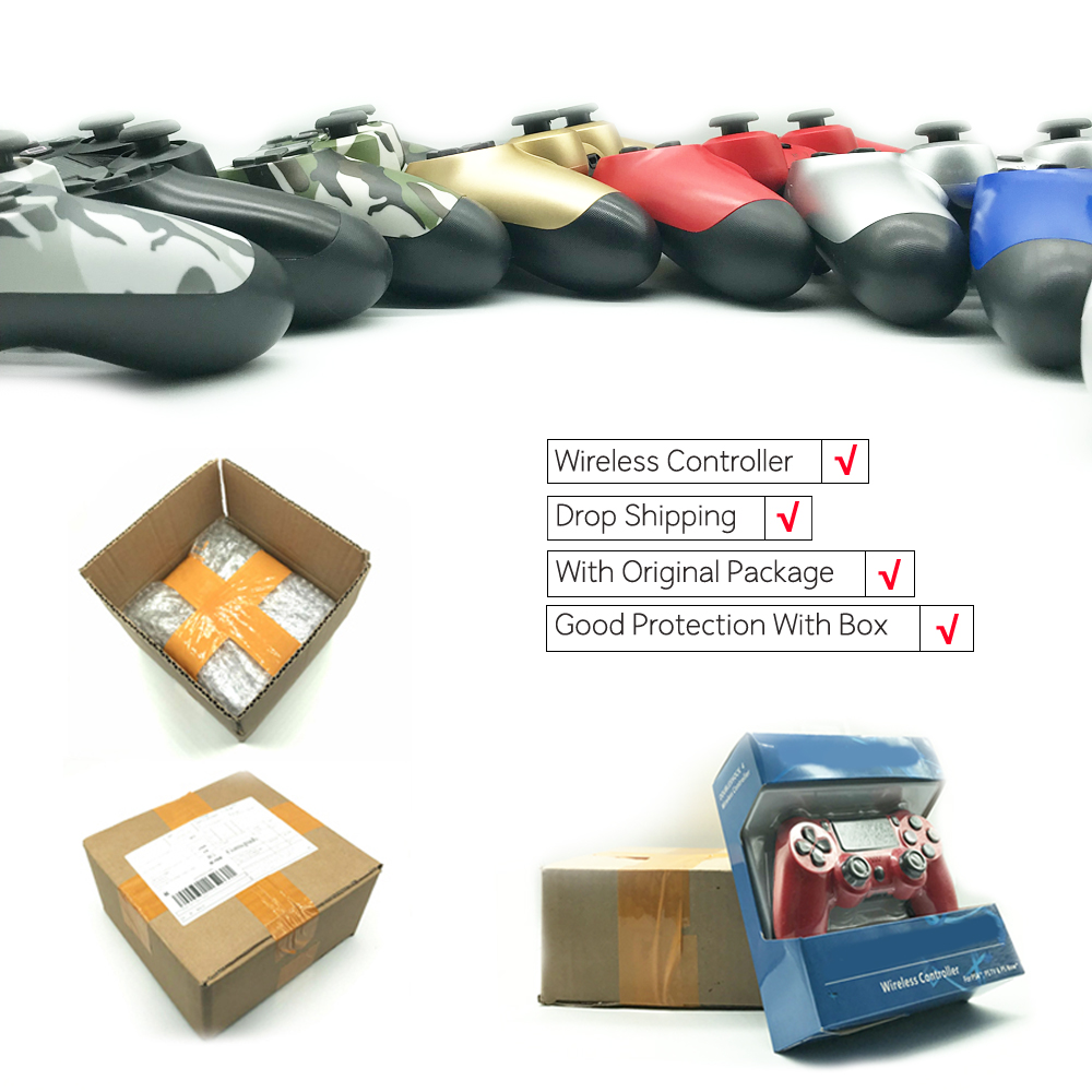 Inalámbrico Bluetooth Gamepad control remoto para Sony Playstation 4 PS4 para PlayStation 4 Dualshock4 Joystick Gamepad
