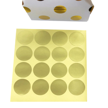 160pcs/lot Round Small Gold blank Handmade Cake Packaging Sealing Label Sticker Baking  Gift Stickers