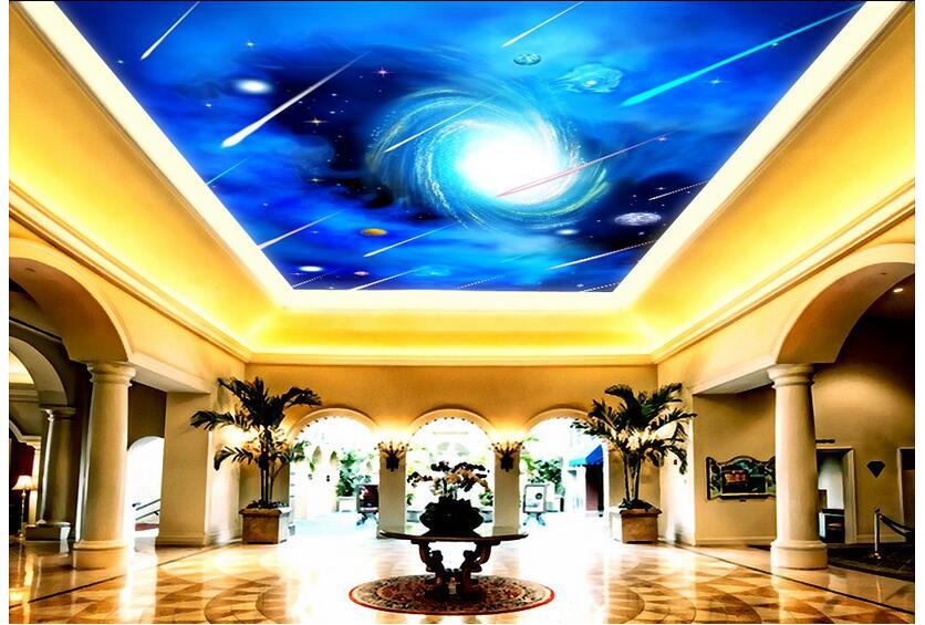 3d wallpaper custom photo non-woven mural wall sticker The sky meteor shower ceiling mural 3d wall room murals wallpaper