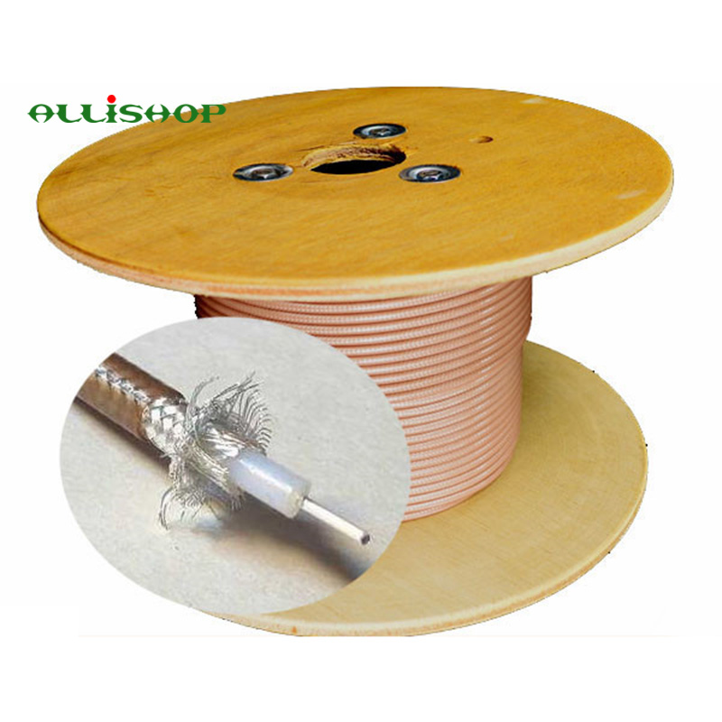 High Quality RF Coax Coaxial RG400 Cable Low Loss 50 Ohm Wires RG400 M17/128-RG400 Double Copper Braid Shielded RF Coaxial Cable