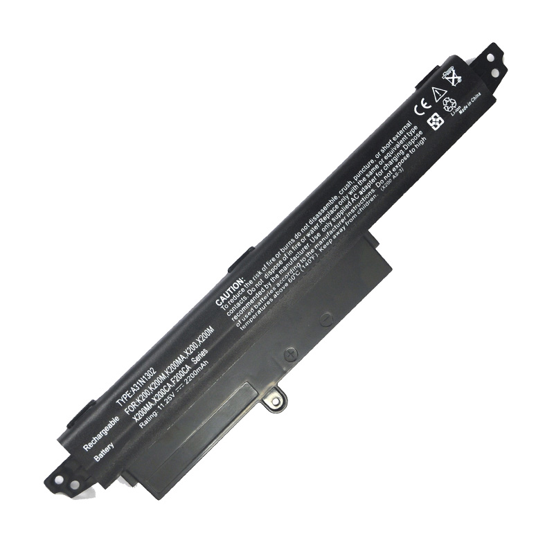 2200MAh Laptop Battery For VivoBook R202CA X200MA For ASUS X200CA X200MA X200M X200LA A31LMH2 A31N1302 A31N1302 A31LM9H аккумулятор topon top x200ca 11 1v 2200mah для asus x200ca x200la x200ma vivobook f200ca series