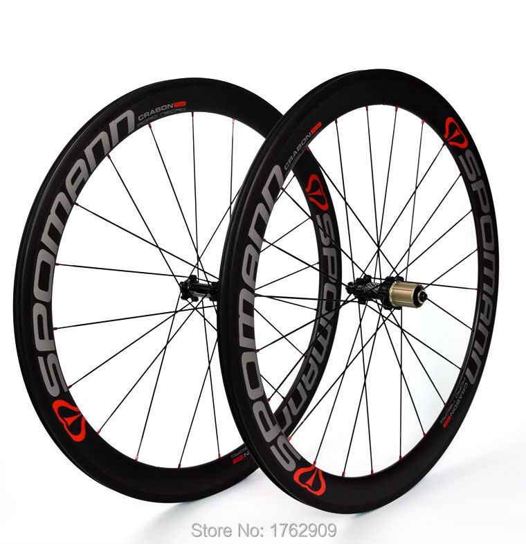 Newest SPOMANN 700C 50mm clincher rims Road bicycle matte 3K full carbon fibre bike wheelset red green blue colors Free shipping carbon wheels 700c 88mm depth 25mm bicycle bike rims 3k ud glossy matte road bicycles rims customize carbon rims