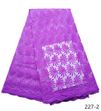 Fashion African Lace Fabric High Quality Pink Nigerian 2019 Embroidery 5yards 227