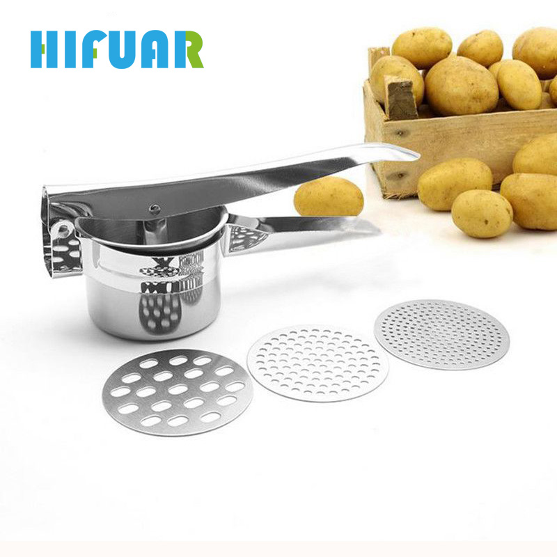 Hifuar Potato Mashers Ricers Fruit Pressure Disks Kitchen Cooking Tools Vegetable Maker Garlic Presser Fruit Vegetable Tools