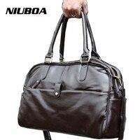 Leather Men Travel Bag Simple Travel Bag In Mens Briefcase High Quality Men Cool Shoulder Bag