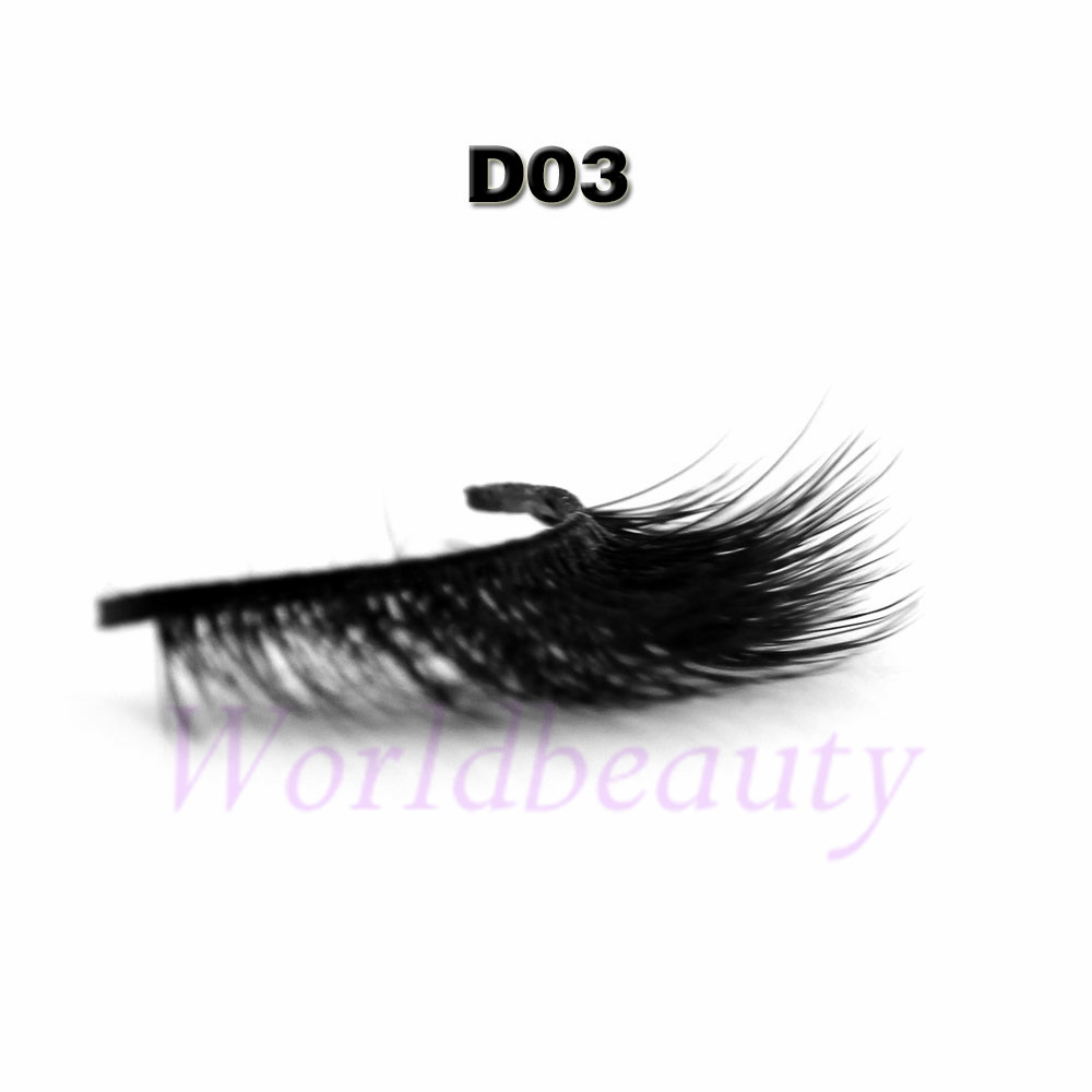 b1b857b1e7f 1pair 3D volume silk eyelashes ,Korea silk Natural soft false eyelashes  style D003
