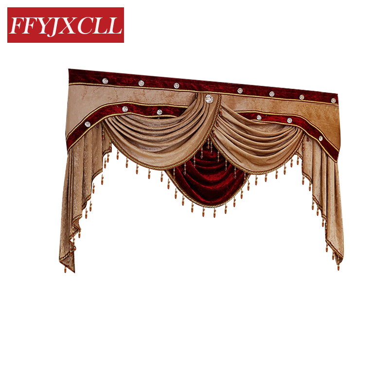 Custom Made 1 Piece Pelmet Valance Europe Luxury Valance Curtains for Living Room Window Curtains for