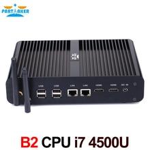 Причастником B2 Barebone HTPC NUC безвентиляторный настольный компьютер мини ПК Intel Core I7 4500U Max 16 г Оперативная память 512 г SSD 1 ТБ HDD Windows 10