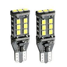 2 pièces, clignotants pour voiture T15 W16W WY16W 15 SMD 2835 LED, feux de stop supplémentaires CANBUS sans erreur, clignotant blanc, rouge et jaune