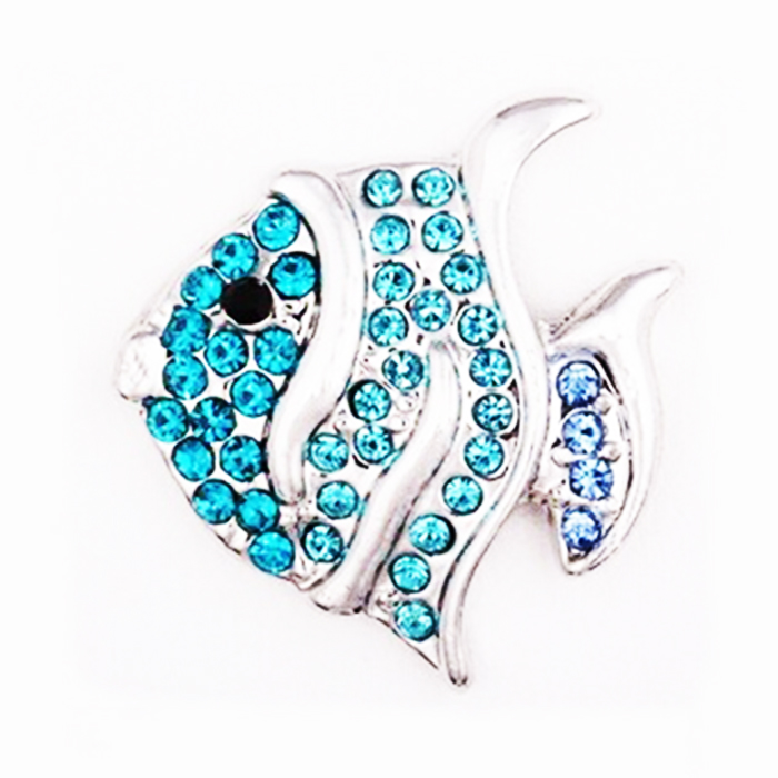 MN2013   Goldfish 18mm   Metal Snap Button for DIY Bracelet