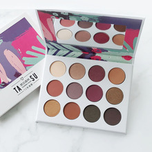 Brand Make Up Eye Shadow Palette Burgundy 9 Colors Natural Shimmer Matte Eyeshadow Palette Professional Makeup Pallete Cosmetic все цены