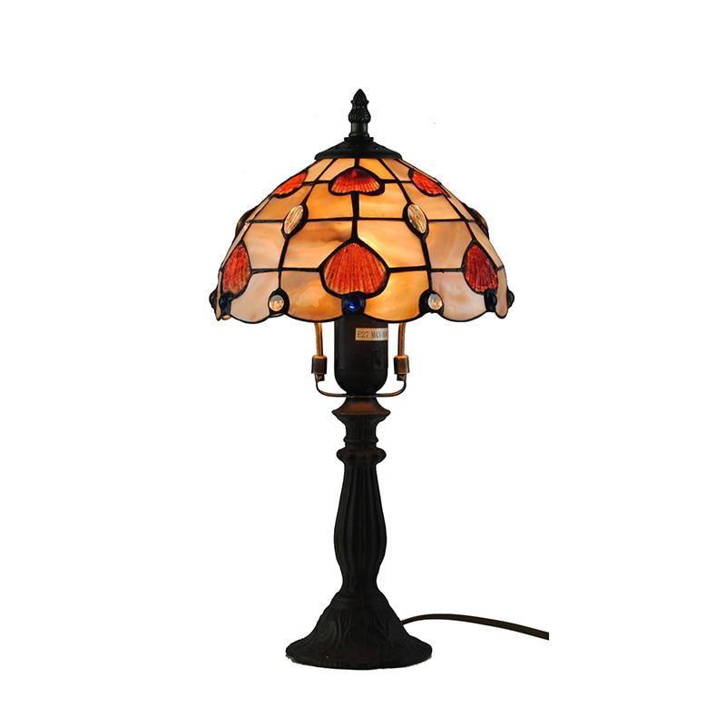E26/E27 Table Lights 8 Inch Bedroom Bedside Lamp Home Fixture Decor For Living Room Modern Stained Glass Desk Lightings TL179