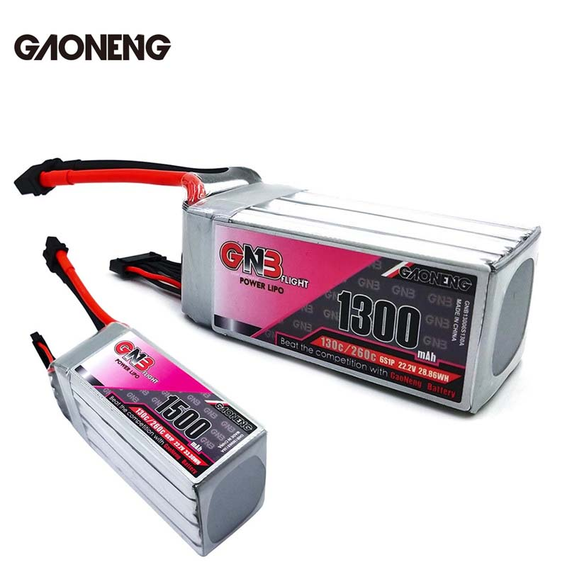 Gaoneng GNB 22.2V 1500mAh / 1300mAh 30C/260C 6S Lipo Battery Rechargeable With XT60 Plug Connector For RC Models Multicopter image