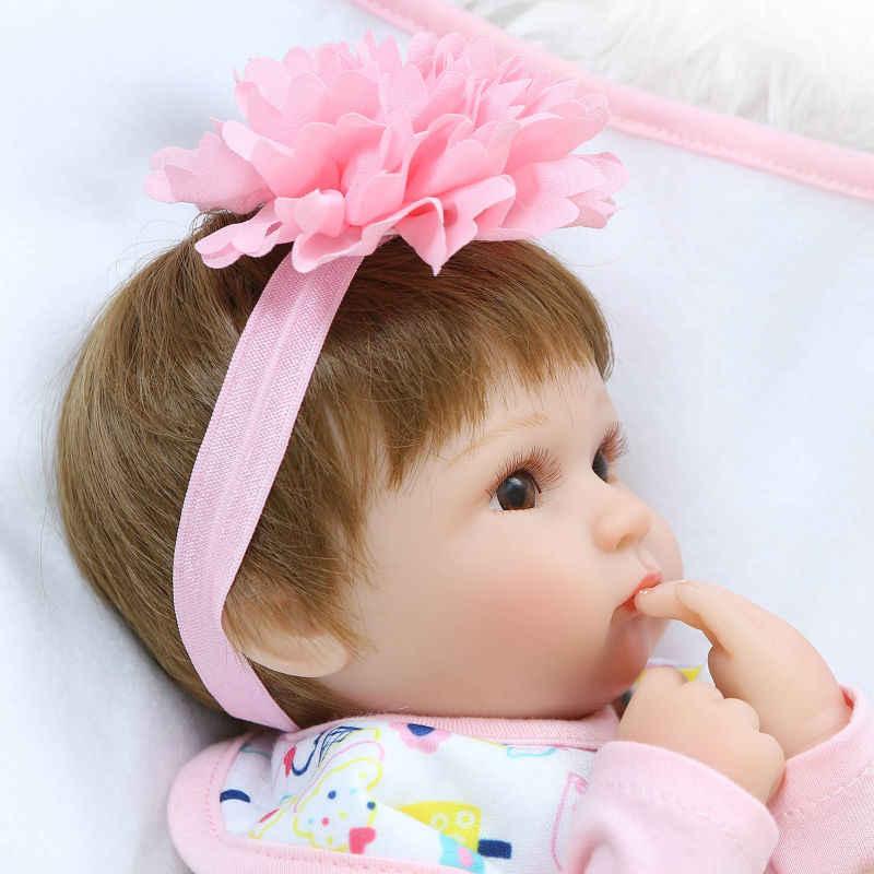 NPK новейший Новый 43 см силиконовый Reborn Boneca Realista модные детские куклы для принцессы Детский подарок на день рождения Bebes Reborn куклы