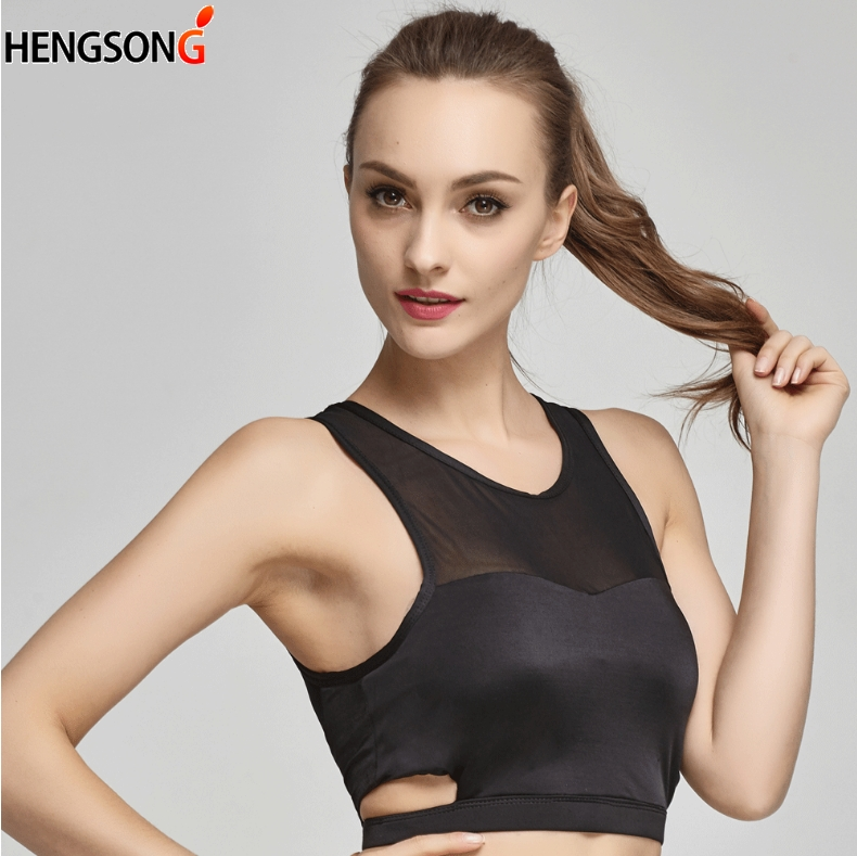 HENGSONG New Breathable Mesh Stitching Bra For Women Comfortable Underwear Ladies Female Full Cup Push Up Bra 801446