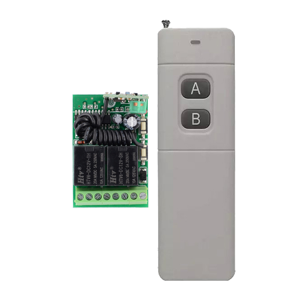 1000M-3000M Transmitter 12V 2 CH 10A Mini Receiver Wireless Remote Control Switch 315mhz/433mhz Long Distance System 315 433mhz 12v 2ch 6 transmitter