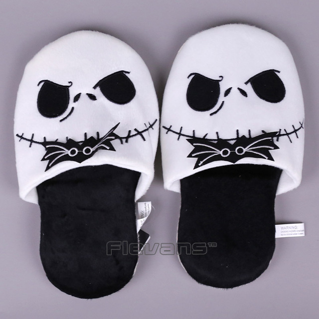 the nightmare before christmas jack skellington plush slippers soft toy men women unisex winter indoor slippers
