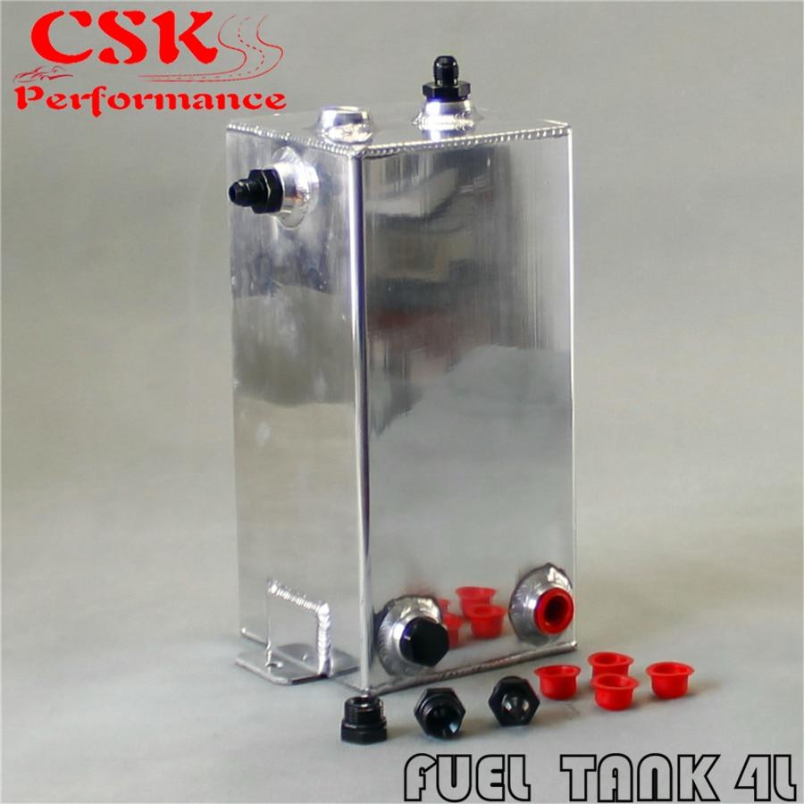 4L Aluminium Surge tank mirror polish Fuel TANK 4 L Universal Fuel Surge Tank 4 Litre Swirl Pot System BLACK