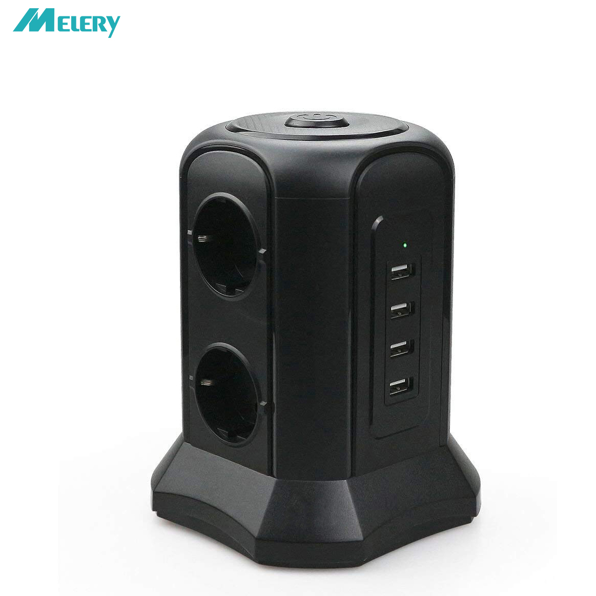 Power Strip Surge Protection Multiple EU Outlets 4 USB Socet with USB Power Adapter 2m Extension