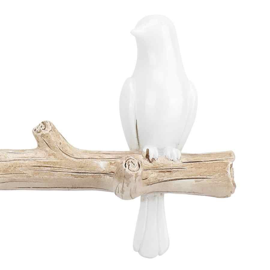 Настенные декоративные аксессуары для дома, вешалка для гостиной, полимерный держатель для ключей с птицей, вешалка на стену, крючки для шляп, держатель для сумочки
