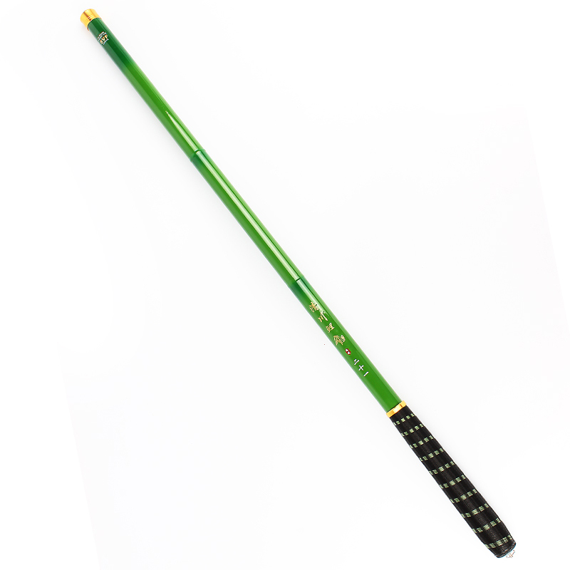 Goture green carbon fiber telescopic pole fishing rod for Carbon fiber fishing rod