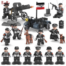 6pcs Compatible Legoed German WW2 Modern Military Soldier Figures Armed Forces SWAT Weapons Building Blocks Child Toys Friends(China)