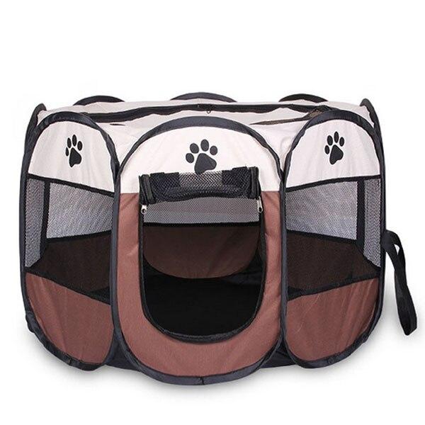 Portátil Dobrável barraca Pet Casa de Cachorro Canil Filhote de cachorro Gaiola Gato Cão Tenda Cercadinho Fácil Operação Octagon Cerca