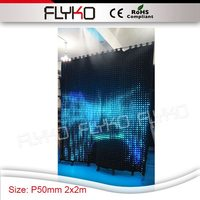 7ft x 7ft P5 rental stage professional indoor LED Display led video curtain with RGB color wedding concert