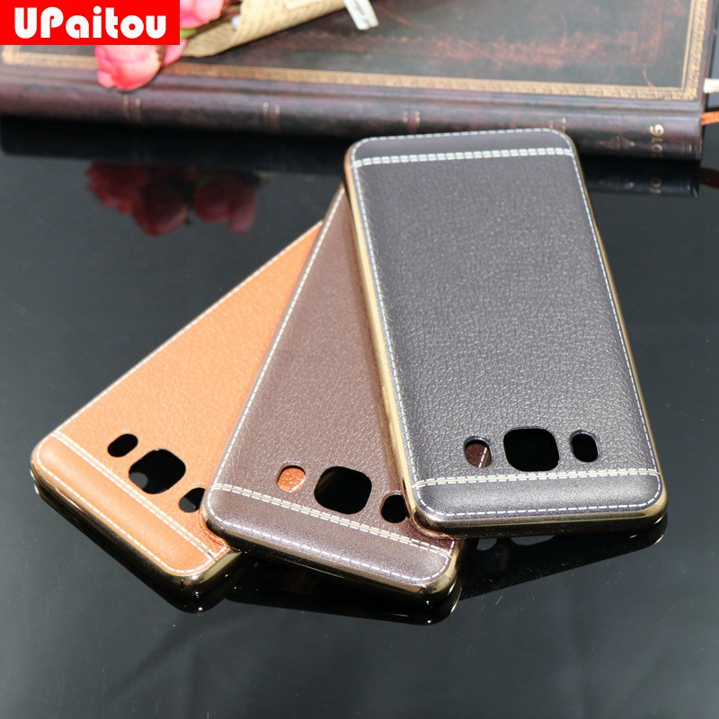 Litchi Grain Painting Soft TPU Back Cover Case for Samsung Galaxy A3 A5 A7 A8 J2 J3 J5 J7 Prime J710 2016 2017 G530 C5 C7 C9 Pro
