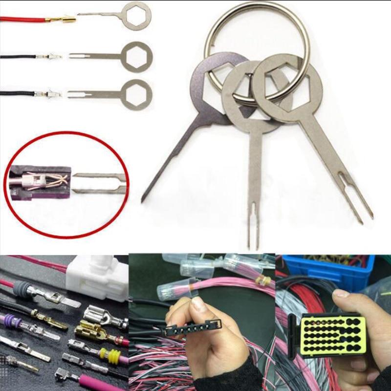 2017 3pcs Terminal Removal Tool Key Pin Wire Crimp