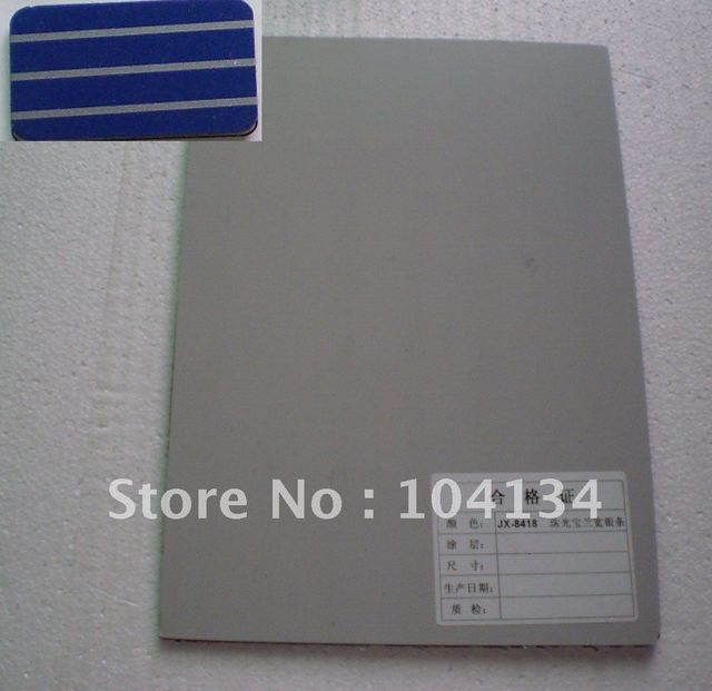 fireproofB1grade aluminum composite panel,surface PE & PVDF coating
