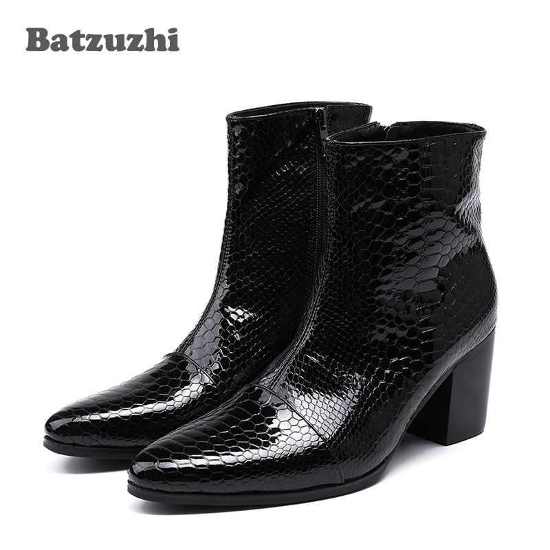 a770102083a Detail Feedback Questions about Batzuzhi 7CM High Heels Men Boots ...