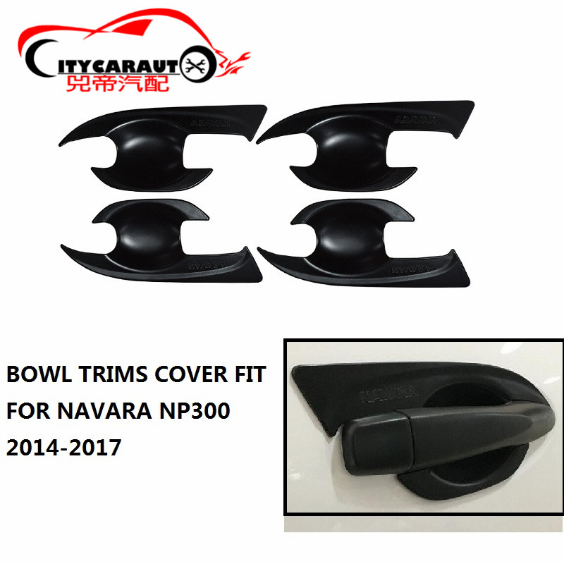ABS Chrome Door Handle Cup Grand Bowls Cover fit for 2005-2016 NISSAN Navara