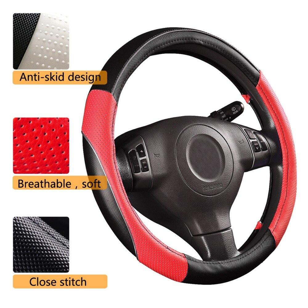 CAR-PASS RAINBOW PVC Кожен универсален волан - Аксесоари за автомобилния интериор - Снимка 4