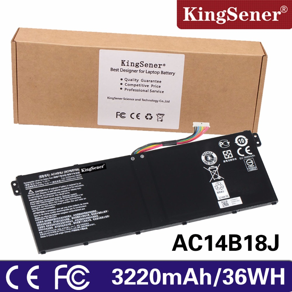 KingSener AC14B8K AC14B18J Battery for Acer Aspire E3-111 E3-112 E3-112M ES1-511 V3-111P CB3-531 TravelMate B115-M B115-MP acer es1 531 c7tf notebook