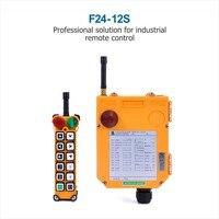 TELEcrane Industrial Remote Control Hoist Crane F24 12S Controller 1 Transmitter 1 Receiver 36V 220V 380V