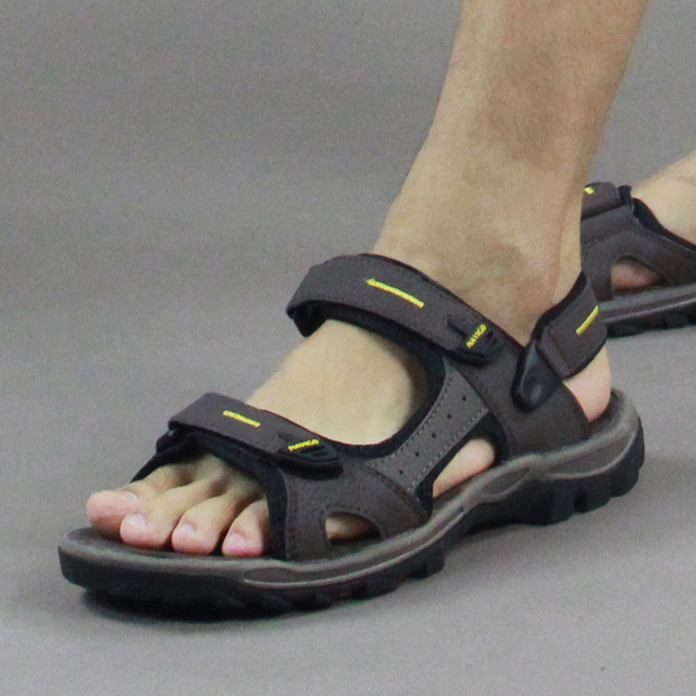 2015 vietnam shoes casual leather sandals summer sandals male